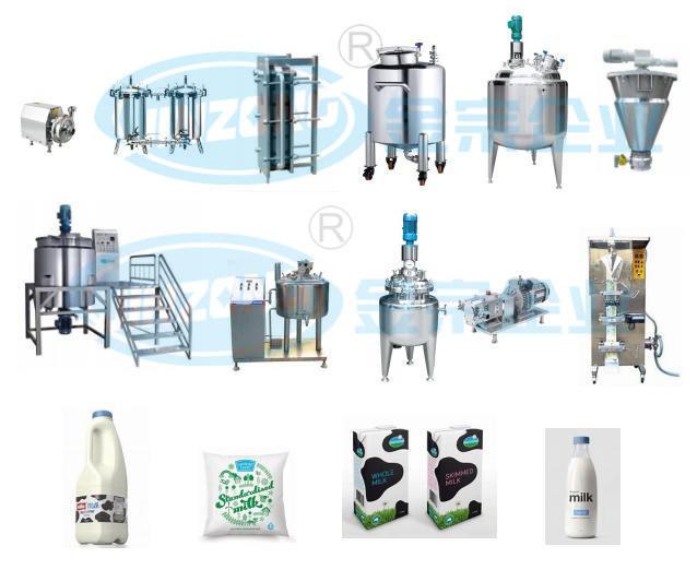 Dairy Production Milk Yogurt Whole Production Line China Supplier