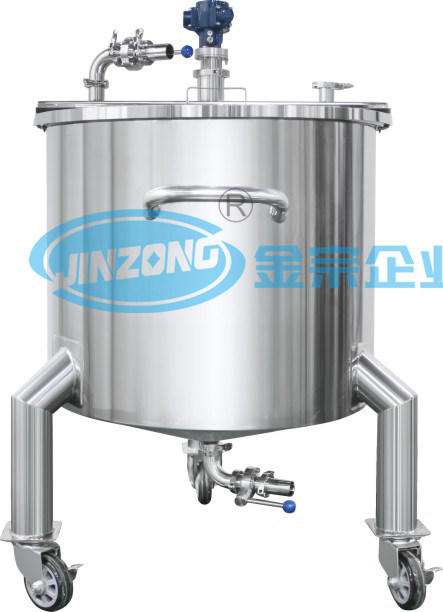 1500L Stainless Steel Sanitary Grade Vertical Flat Cover Storage Tank