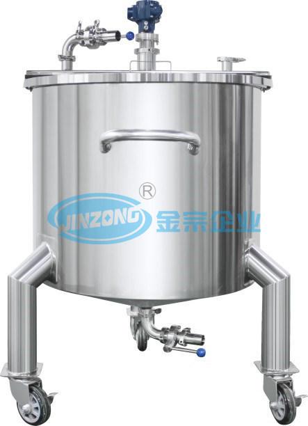 50L - 5000L Flat Cover Singel Layer Pneumatic Mixing Tank Disperser Reactor