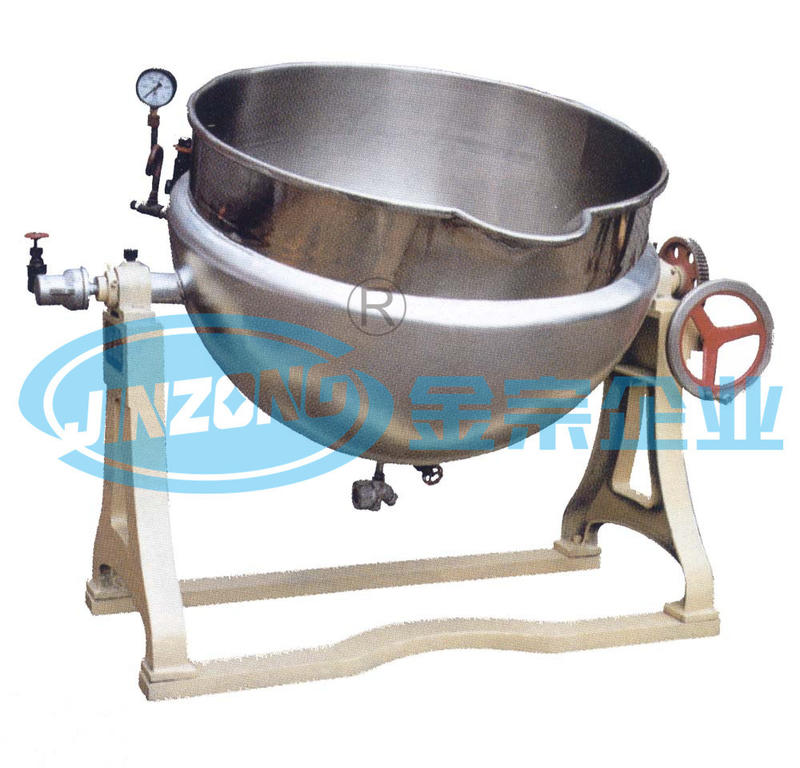 Jacketed Heater Starch Paste Preparation Kettle Half Open Mixing Machine