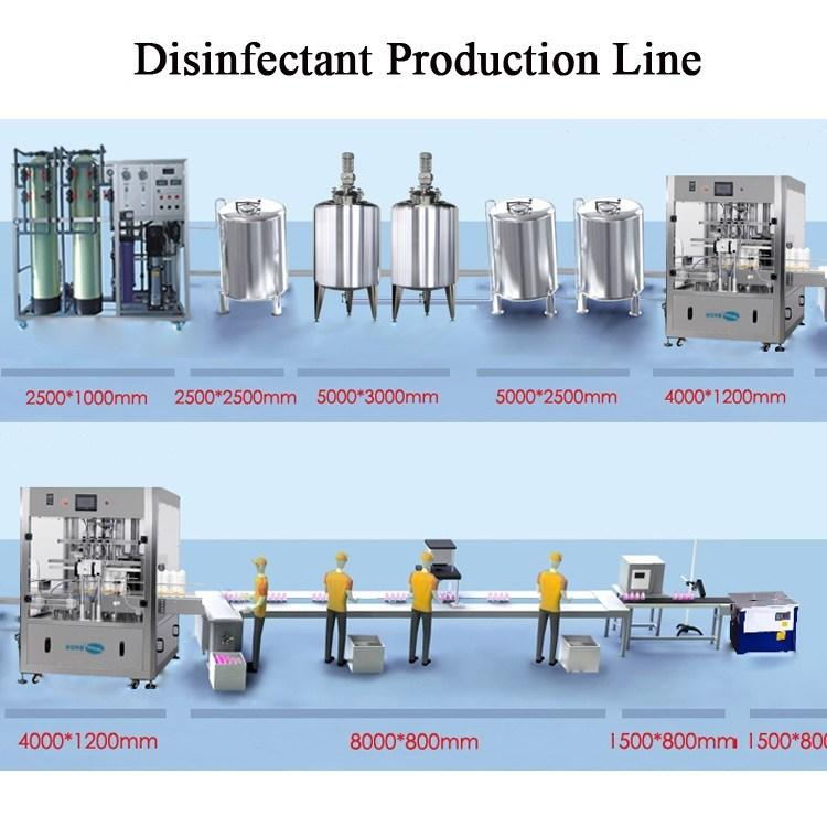 Disinfectant Liquid Manufacturing Plant Hand Sanitizer Production Processing Machine