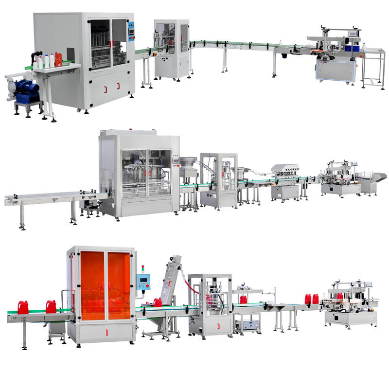 Automatic Filling Packing Line for Shampoo, Hand Sanitzier, Lubricating Oil