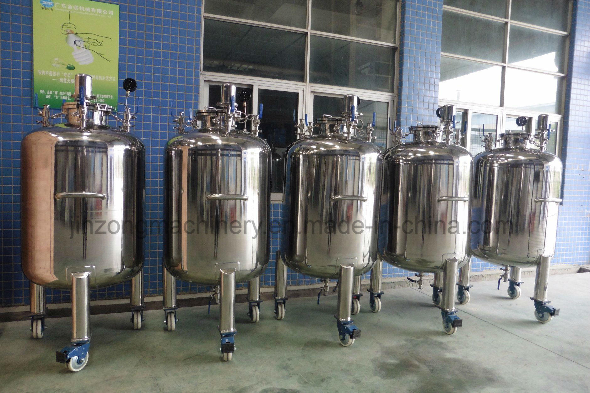 Vertical Sterile Stainless Steel Storage Tank for Food