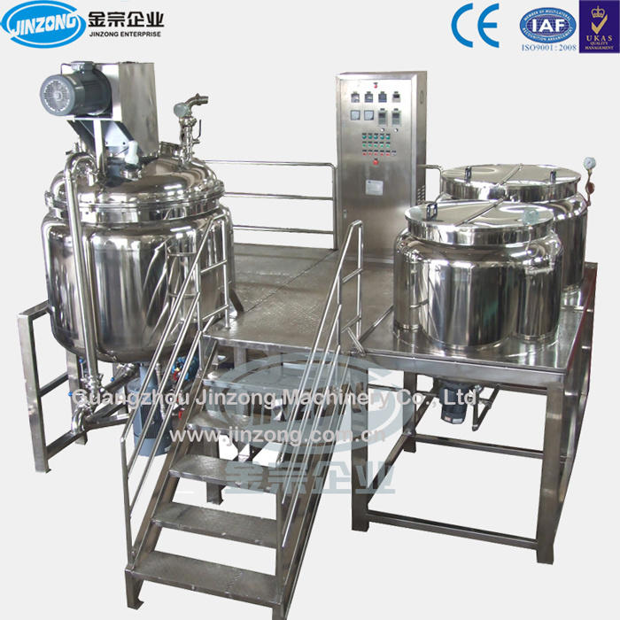 Automated Ointment Cream Emulsifier Mixing Machine Manufacturing Plant