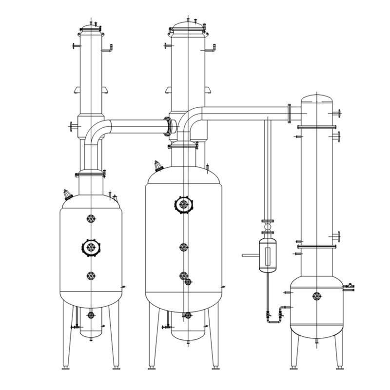 Low Temperature Distillation Evaporation Concentrator Juice Falling Film Evaporators