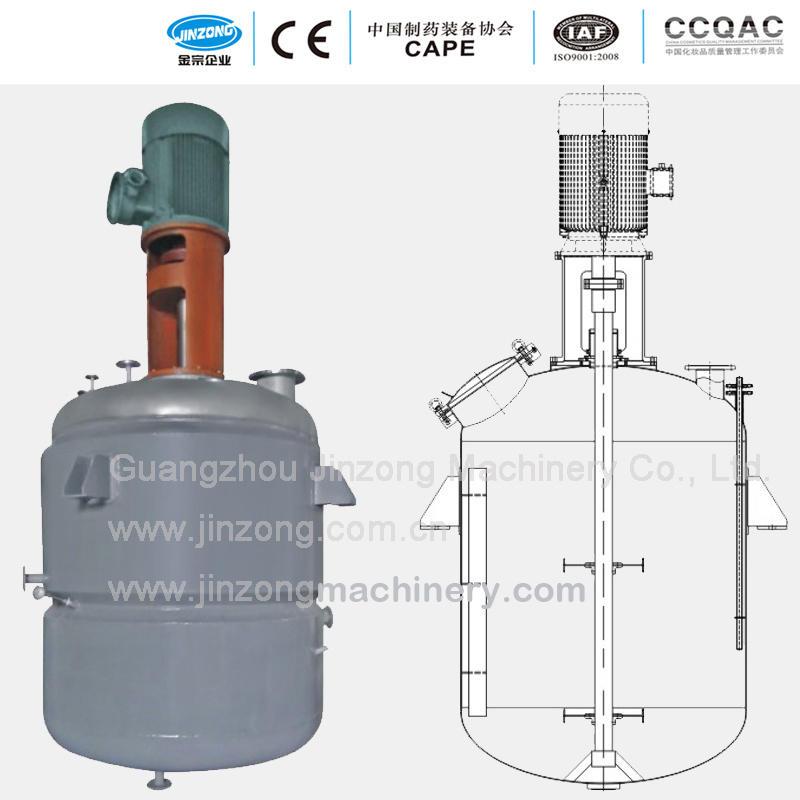 Sanitary Mixing Vessel Electric Steam Heating Pressure Tank