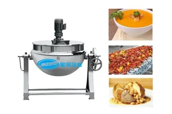 Soup Making Tiltable Jacketed Boiling Pot Jacketed Boiling Pans Seasoning Processing Machinery