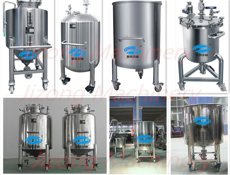 All Kinds of Stainless Steel Sanitary Storage Tank