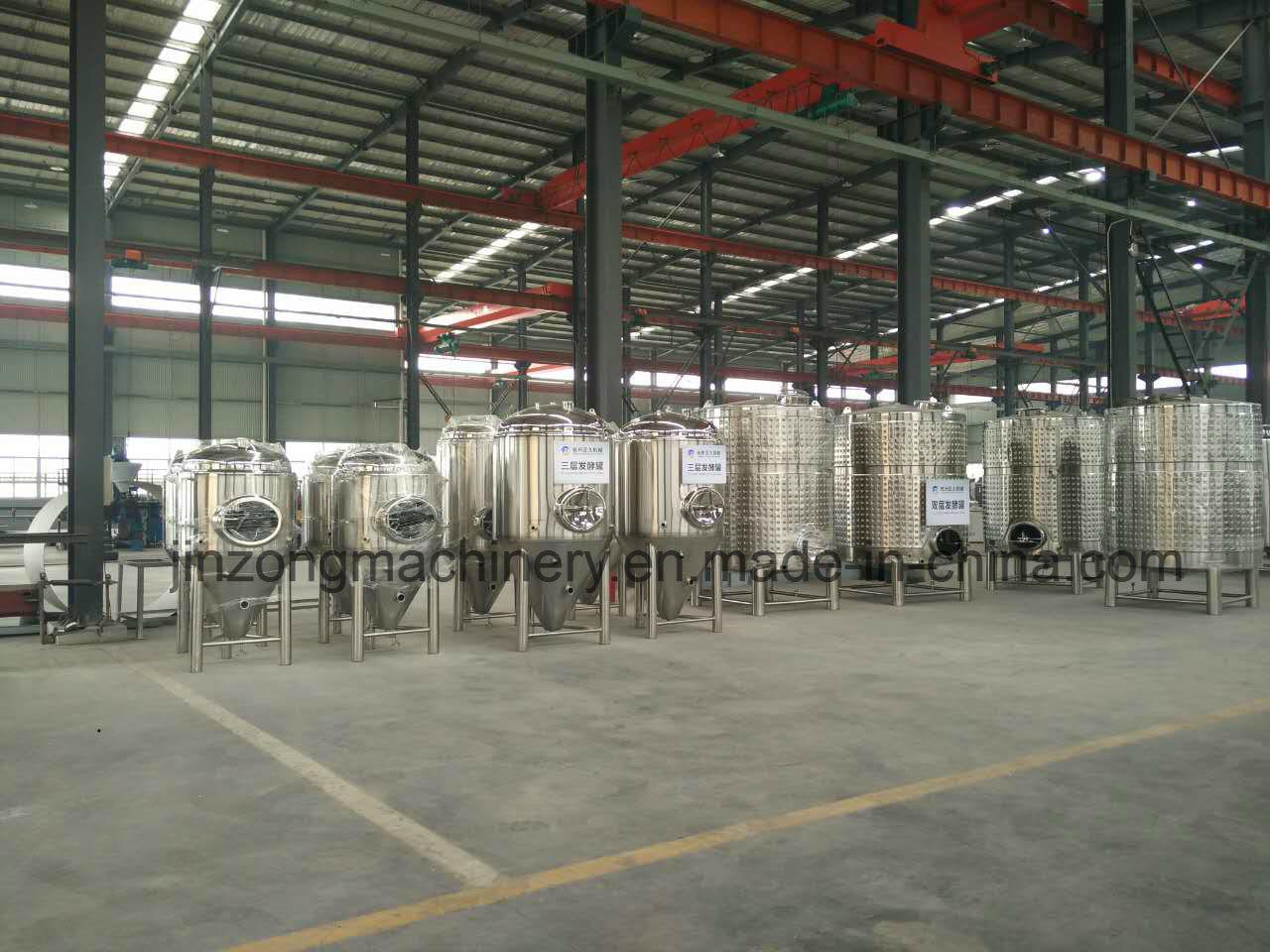 Stainless Steel Jacket Beer Fermentation Tank