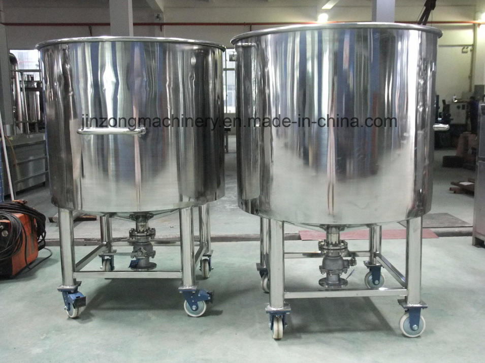 Sanitary Stainless Steel Chemical Storage Tank Container for Cosmetic/Pharmacy/Food Industry