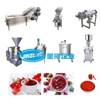 Tomato Paste Ketchup Fruit Paste Making Machine Plant Production Line
