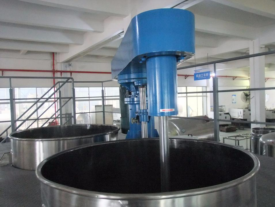 Hydraulic Paint Mixer with Operation Platform
