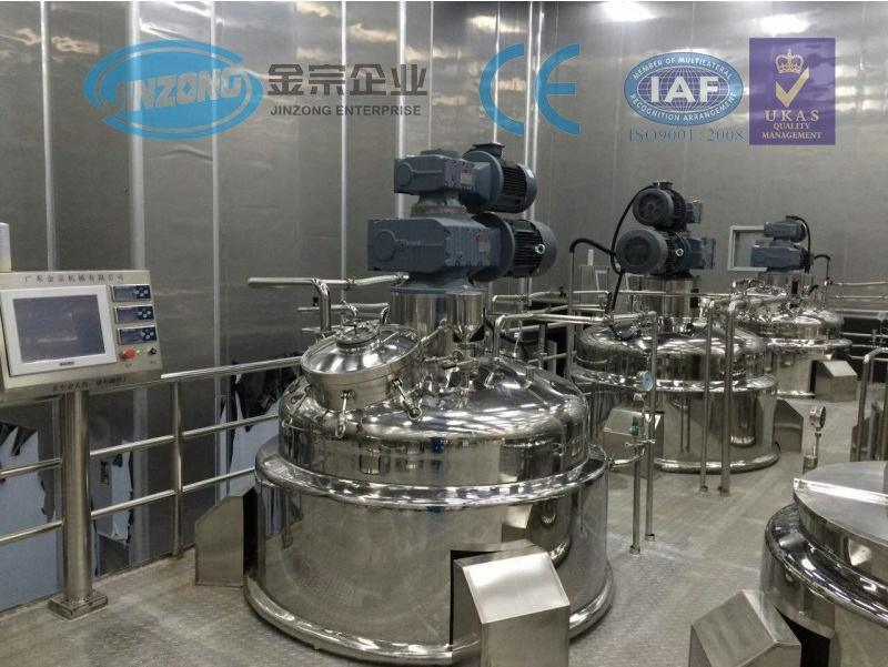 Jinzong Homogenizer Vacuum Emulsifying Mixing Machine for Cream and Liquid Solution Production