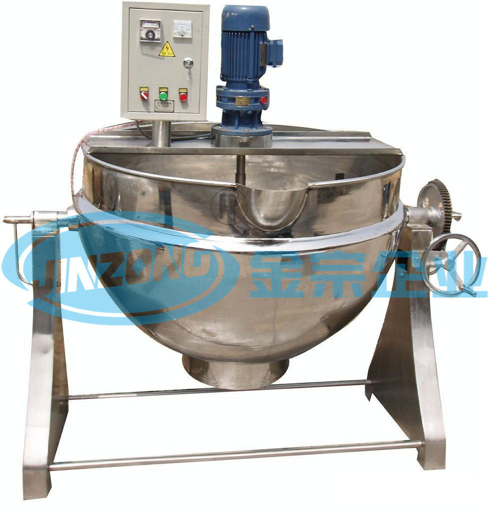 Stainless Steel Electric Heating Cooking Pan Jacketed Boiling Pot