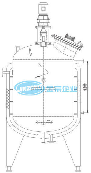5000L Customized Stainless Steel Mixing Tank Pressure Vessels Manufacturers