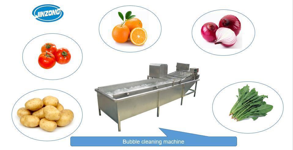 Fruit Vegetable Bubble Cleaning Washing Machine Washer China Manufacturer