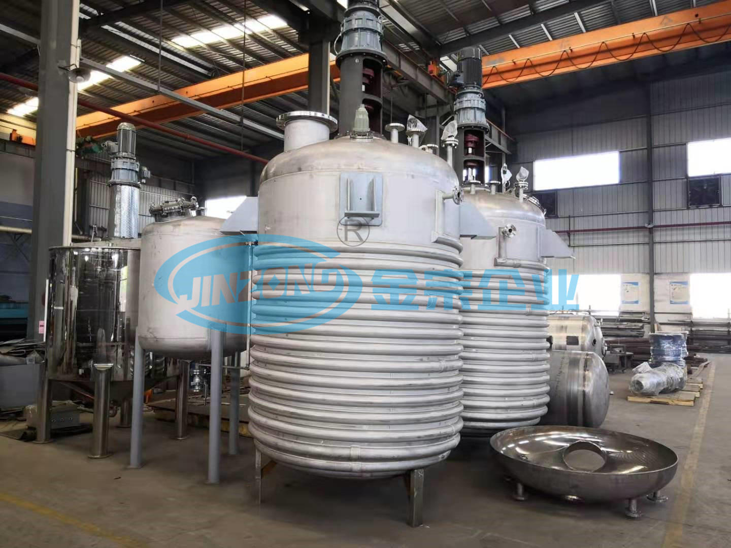 Stainless Steel Reactor with Limpet Coils Industrial Process Reactors Fabricator