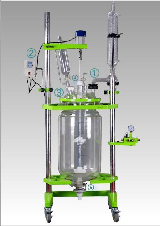 10 Liter Jacketed Glass Reactor for Lab