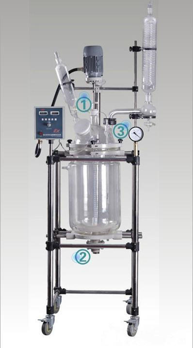 Multi-Functional Jacketed Glass Reactor Pharmacy Lab Equipment