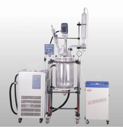 Pharmacy Lab Equipment Glass Reactor Pilot Bioreactor