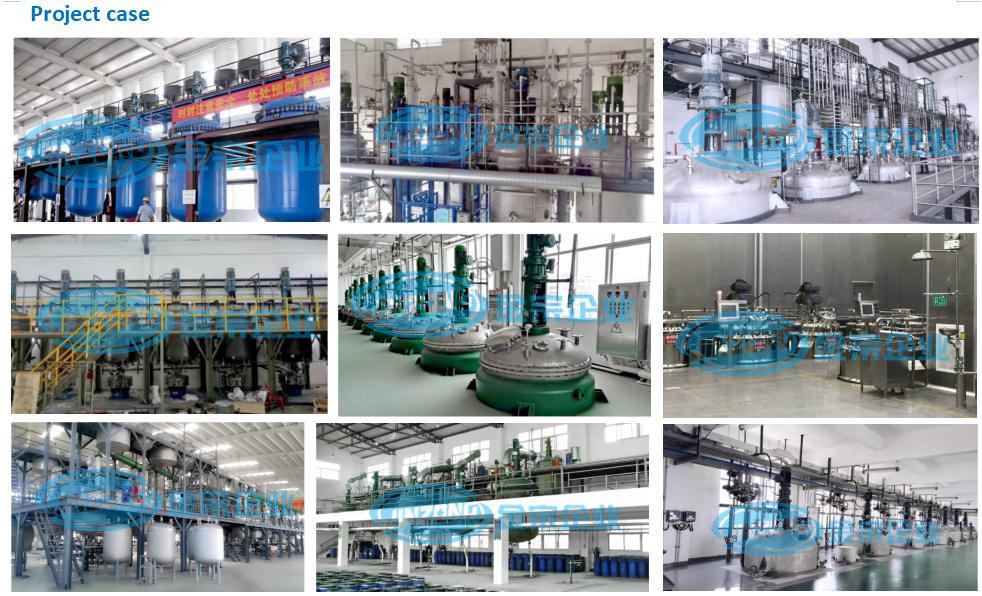 Pharmaceutical Stainless Steel Glass Lined Reflux Reactor Reaction Vessel