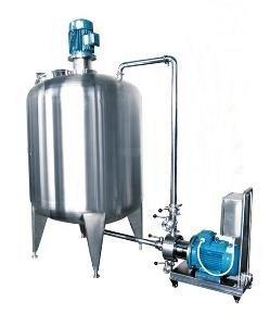 External Circulation Mixing Tank with Inline Homogenizer or Rotor Pump