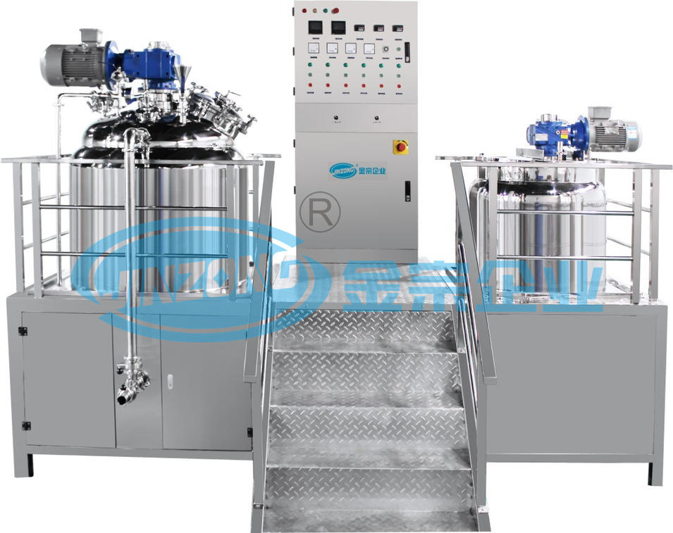 50 Liter to 6000L Vacuum Emulsifying Mixing Tanks for Paste Ointment Making Process