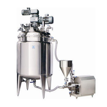 Stainless Steel Tank with Stirrer and Inline Homogenizer Mayonnaise Manufacturing Plant