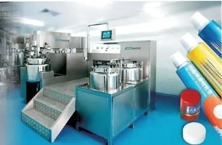 Vacuum Mixer Ointment Cream Gel Skin Care Emulsifying Homogenizer Equipment