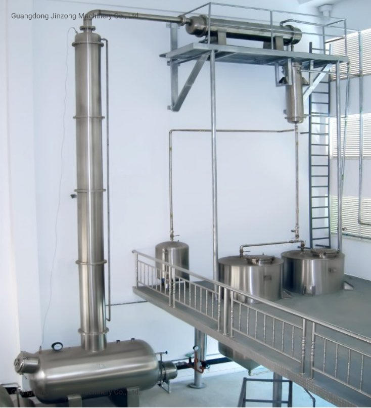 Vacuum Evaporator Concentration Alcohol Deposition Tank Ethanol Recovery Tower