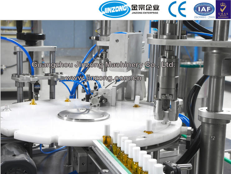 Color Cosmetic Nail Polish Automatic Filling Capping Machine