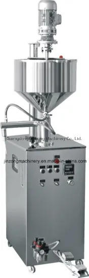 Semi Automatic Ration System Paste Filling Machine with Mixer for Chilli Tomato Sesame Mayonnaise Salad