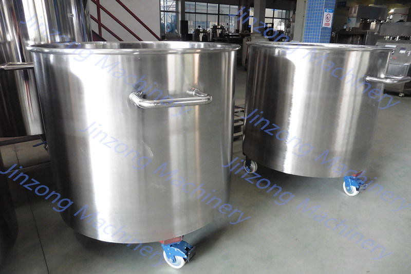 Customized Moveable Stainless Steel Tank with Rolling Wheels