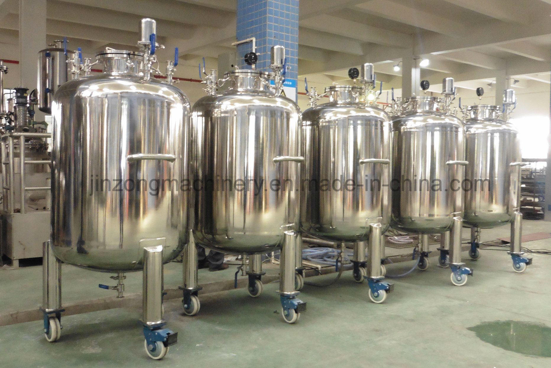 Conical Bottom Sanitary Storage Tank for Food & Pharmaceutical
