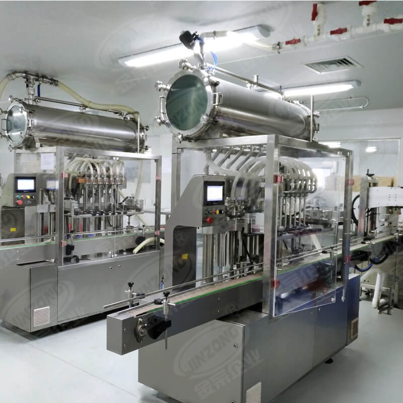 Jinzong Machinery filling cosmetic manufacturing equipment online for nanometer materials