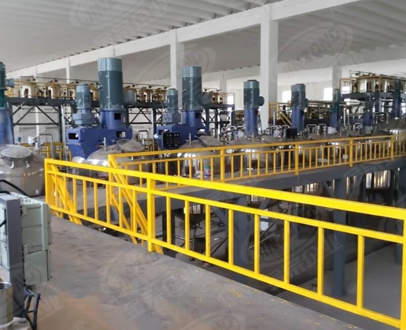 Coating production equipment installation