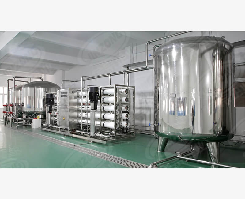 Water treatment equipment for food production