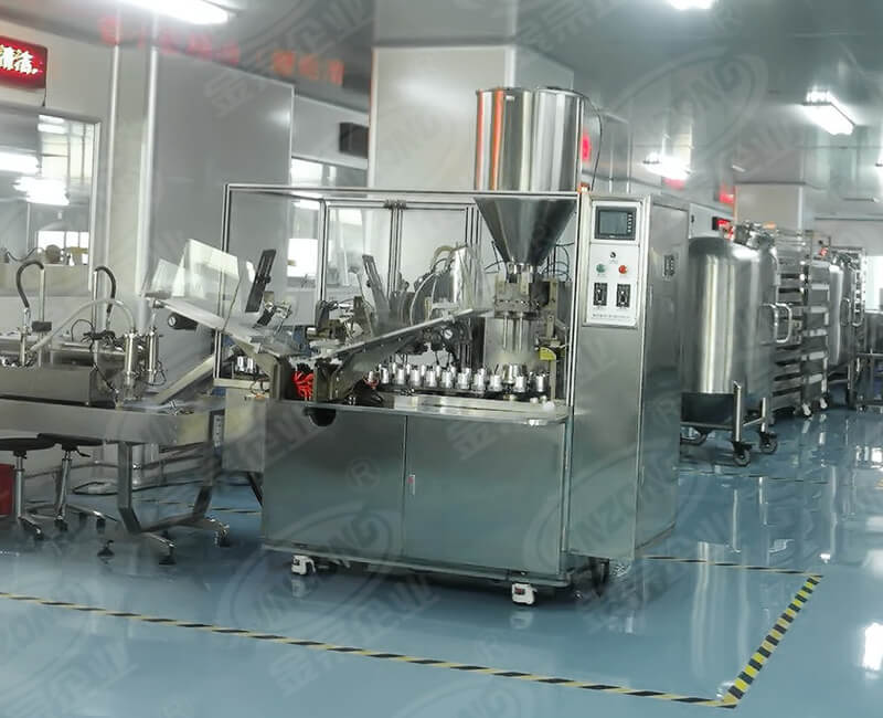 Food and beverage automatic hose filling and sealing machinery