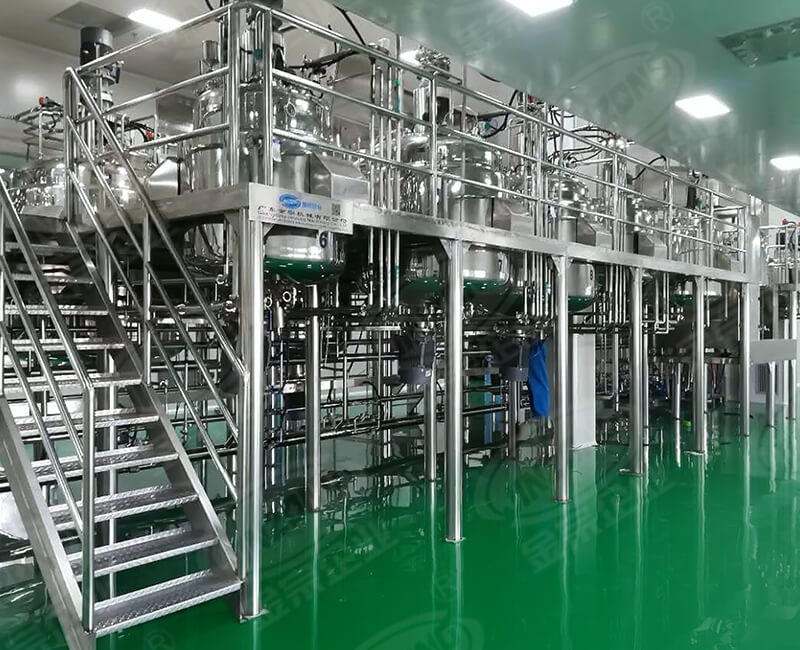 Shower gel production line