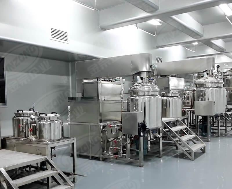 Multi-functional cosmetic cream making machine