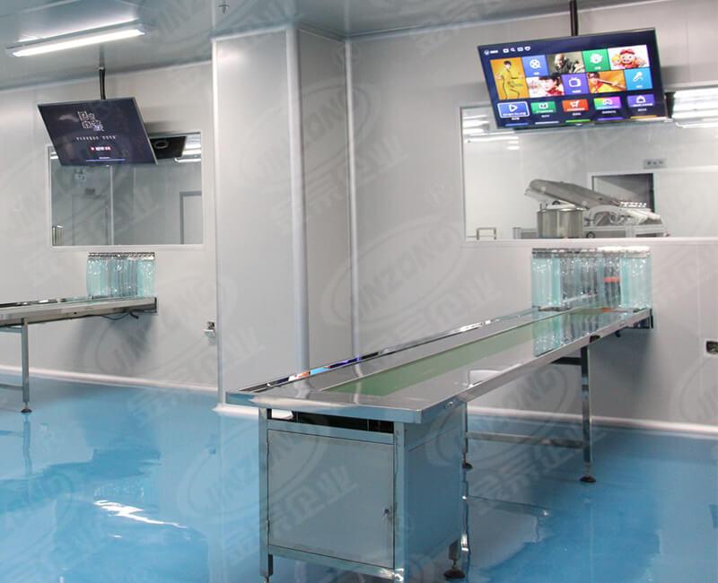 Cosmetic stainless steel conveyor