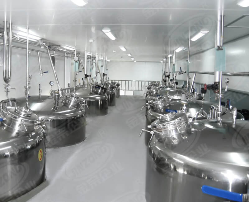 Body care making mixing tank