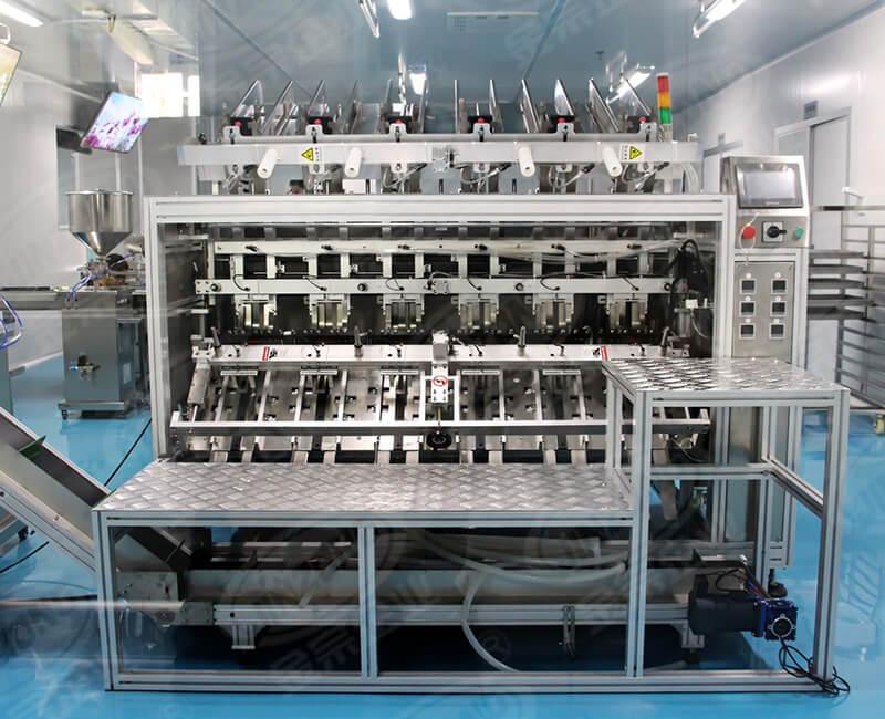 Automatic mask filling machine