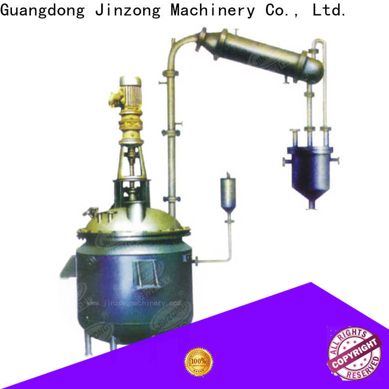 Jinzong Machinery jacketed chemical process machinery online for reaction