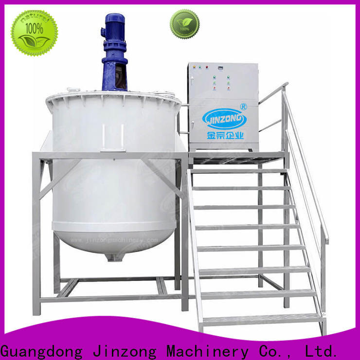 Jinzong Machinery tank Cosmetic cream homogenizer online for petrochemical industry