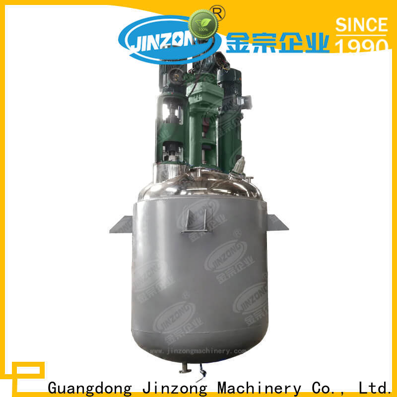 Jinzong Machinery complete jacketed reactor supply for stationery industry