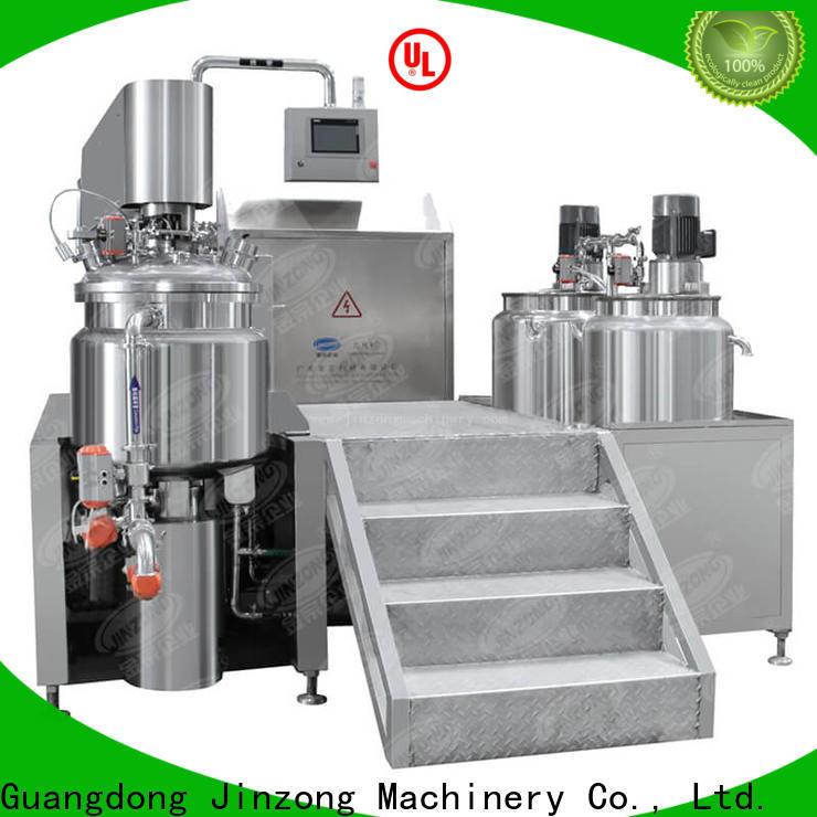 Jinzong Machinery steel vacuum emulsifying mixer factory for food industry