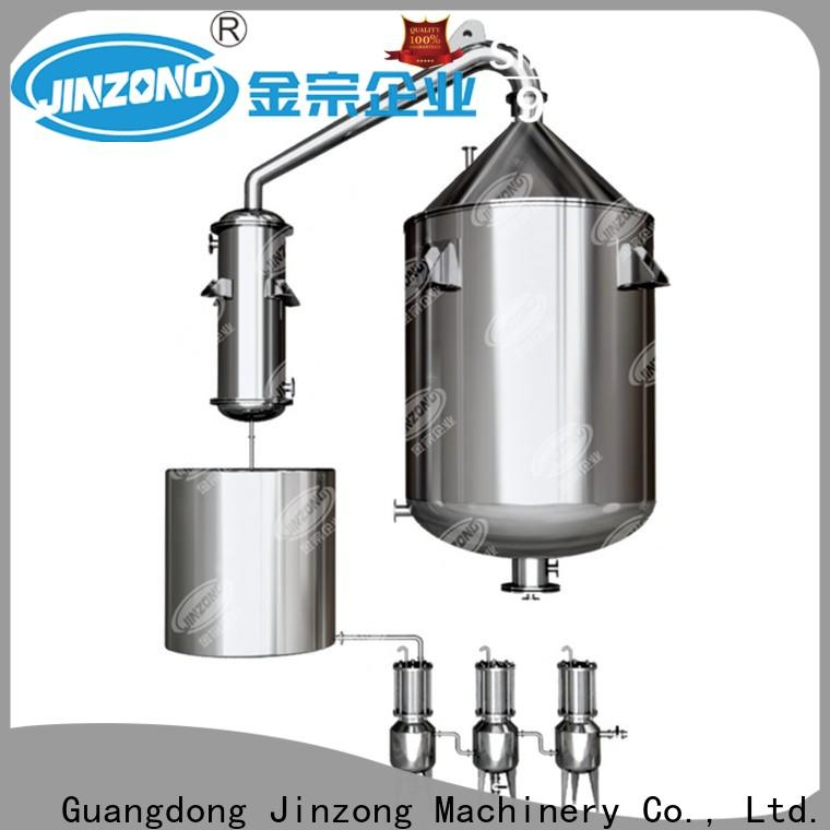 Jinzong Machinery yga evatoration concentrator for sale for reflux