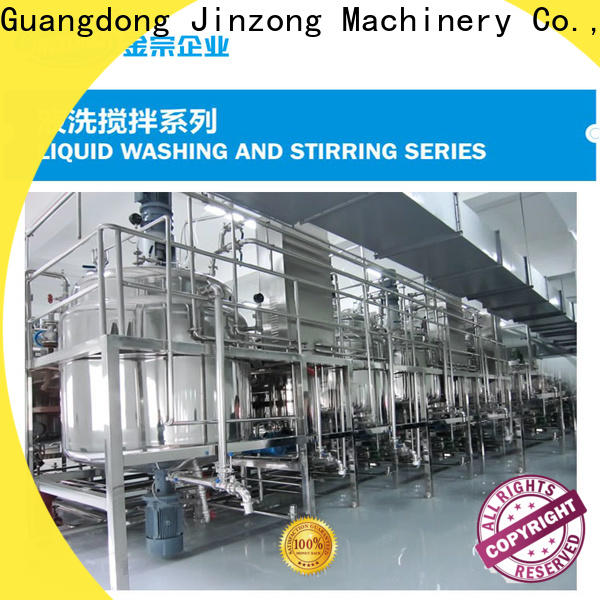 Jinzong Machinery custom cleansing lotion making mixer for business for food industry