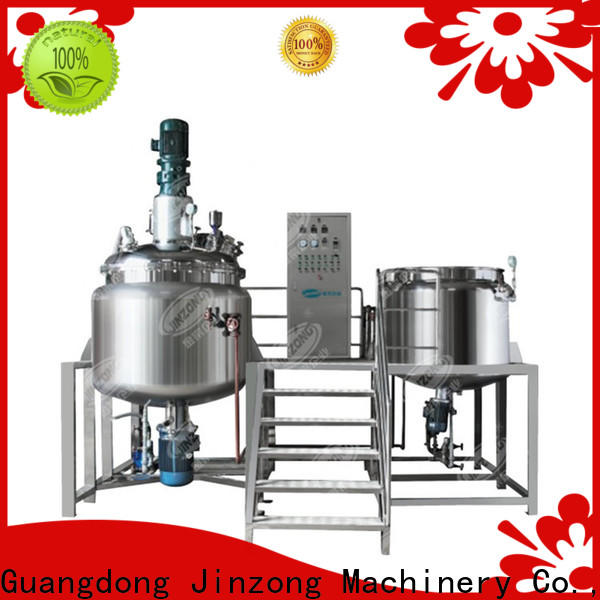 Jinzong Machinery yga syrup manufacturing tank company for food industries